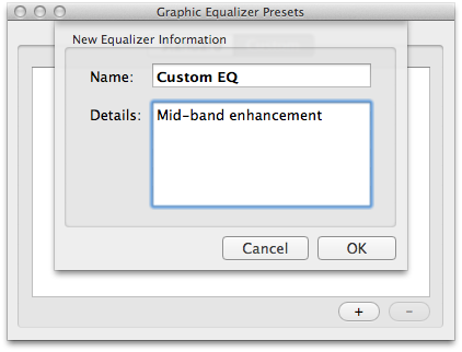 Custom Equalizer Presets