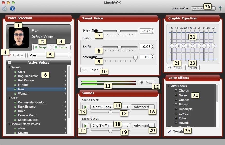 MorphVOX Interface