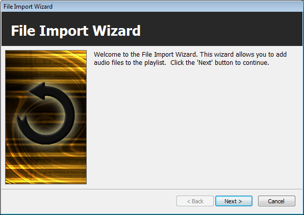 Import Wizard Start