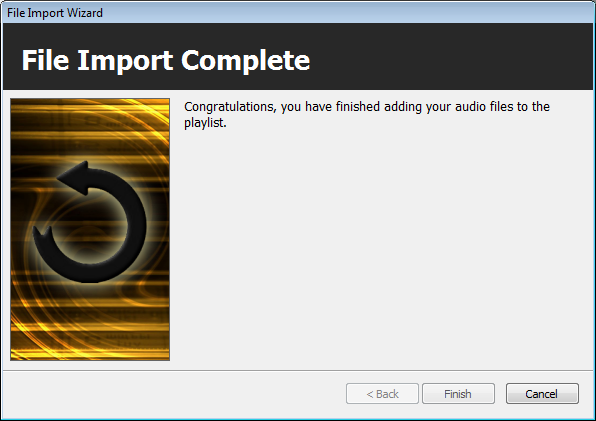 Import Wizard: Finished Importing