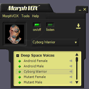 Deep Space Voices - MorphVOX Add-on Screen shot