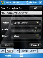 Screenshot of Voice Twister