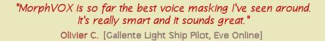 MorphVOX is so far the best voice masking I've seen around.